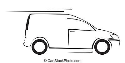 Ilustración vectorial del vehículo de Van