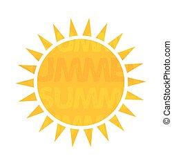 Ilustración vectorial solar
