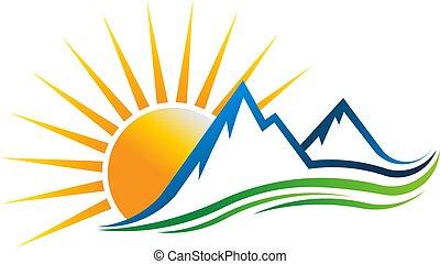 Ilustración vectorial Sun Mountain