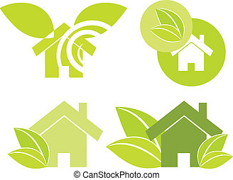 Ilustración verde casera