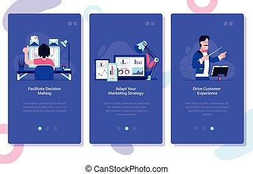 Ilustraciones de concepto de marketing en línea