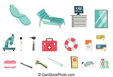Ilustraciones de dibujos animados de vectores médicos