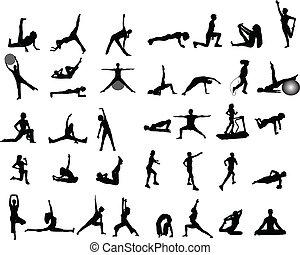 Ilustraciones de ejercicio