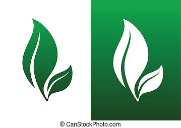 Ilustraciones de vector de par de hojas