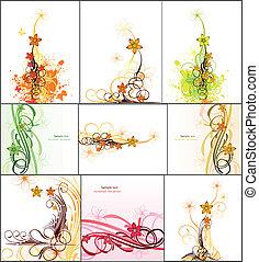 Imágenes abstractas con flores. Vector