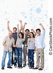 Imágenes compuestas de grupos de personas animadas