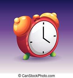 Imágenes de despertador rojo con campanas amarillas