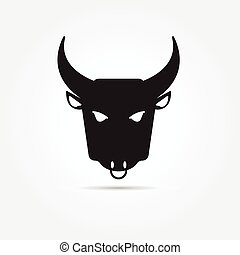 Imágenes de un búfalo de fondo blanco