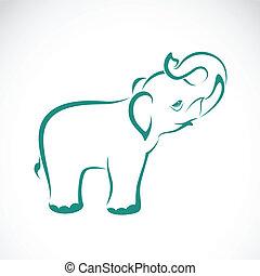 Imágenes de un elefante en un fondo blanco