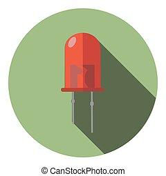Imágenes de un LED rojo