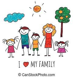 Imágenes de una gran familia feliz