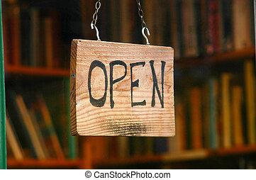 Imágenes de venta y venta de un cartel abierto en una librería