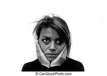 Imágenes de violencia doméstica.
