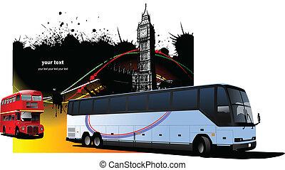 imágenes, londres, grunge, autobuses, im