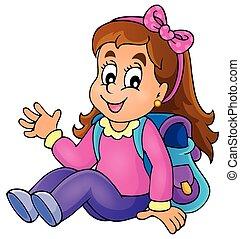Image con el tema de la chica de la escuela 1