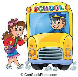 Image con el tema del autobús escolar 7