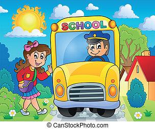 Image con el tema del autobús escolar 8