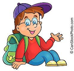 Image con el tema del chico de la escuela 3