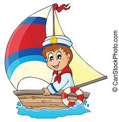 imagen, 3, tema, marinero