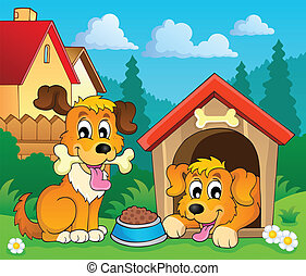 imagen, 3, tema, perro