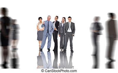 Imagen compuesta de gente de negocios
