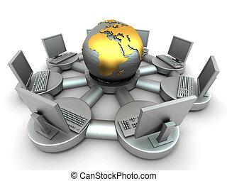 Imagen conceptiva de Internet