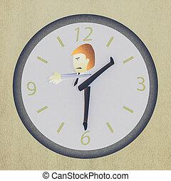Imagen conceptual: hombre de negocios ocupado