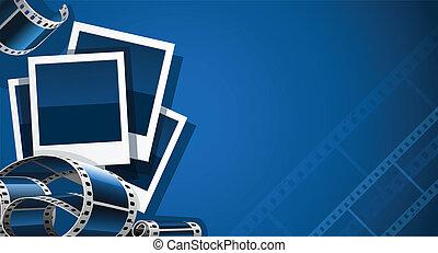 imagen, conjunto, vídeo, película, foto