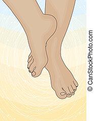 Imagen de los pies femeninos
