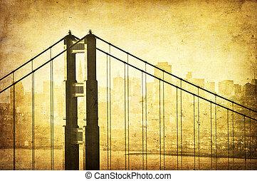 Imagen del puente de la puerta dorada San Francisco, California