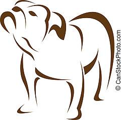 Imagen del vector de un perro (perro)
