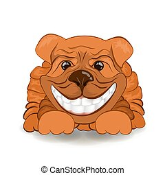 imagen, dog., vector, amistoso