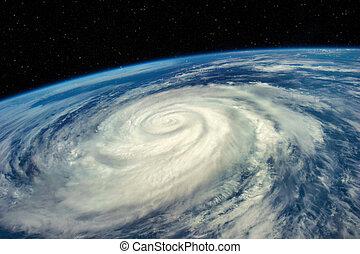 imagen, espacio, vista, esto, huracán, nasa, elementos, amueblado