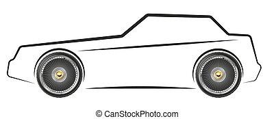 Imagen estilizada del coche
