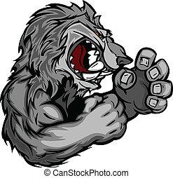 Imagen gráfica de un lobo o C
