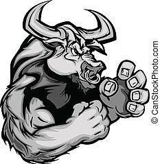 Imagen gráfica de una vaca de toro