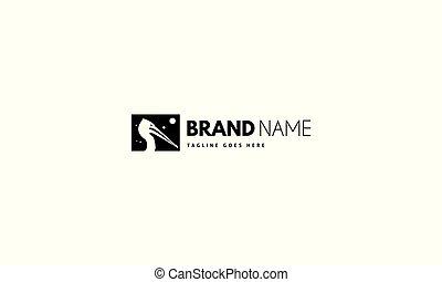 imagen, head., pelícano, logotipo, vector, resumen