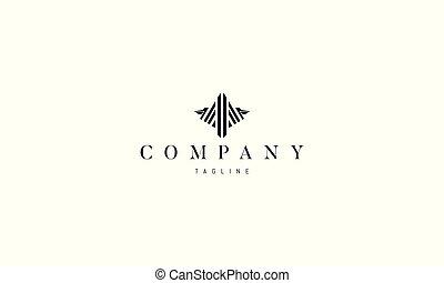 imagen, logotipo, vector, pelican., resumen