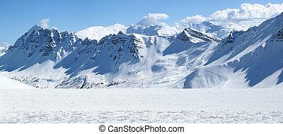 imagen, montañoso, multa, vista