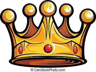 imagen, o, realeza, vector, reyes, caricatura, corona
