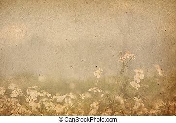 imagen, o, texto, papel, texturas, espacio, viejo, perfecto, plano de fondo, -, flor