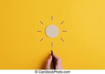 imagen, optimismo, conceptual, positivity