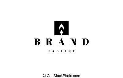 imagen, resumen, flame., logotipo, vector, vela