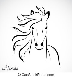 imagen, vector, caballo