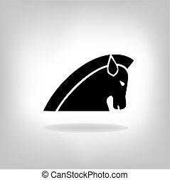 Imagen vector de un caballo