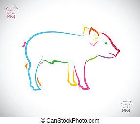 Imagen vector de un cerdo