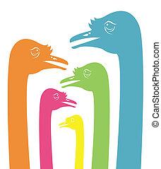 Imagen vector de una cabeza de avestruz