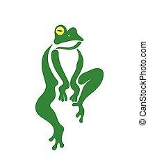 Imagen vector de una rana