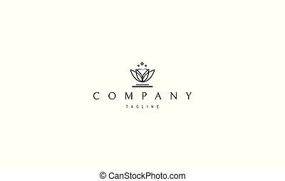 imagen, vector, resumen, logotipo, diente, leaves.