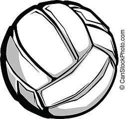 imagen, vector, voleibol